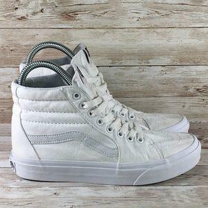 Vans Sk8 Hi Womens 7 Triple White Skate Sneaker